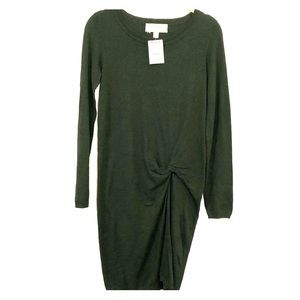 Cloth & Stone dark green long sleeve sweater dress